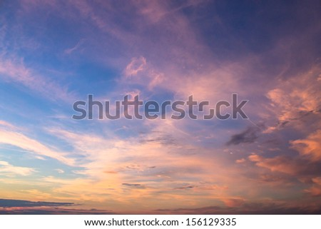 bright sunset sky background - stock photo