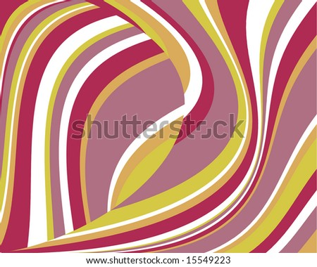 Bright, swoopy stripes background - stock photo