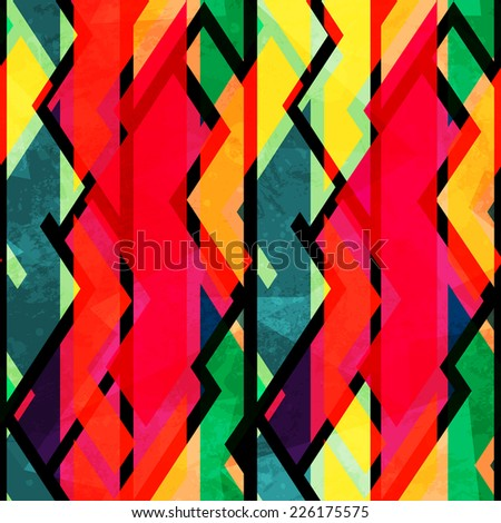 bright tribal seamless pattern (raster version) - stock photo