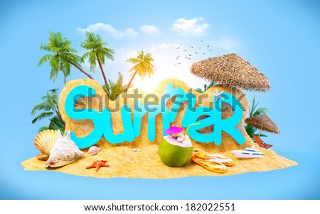 Bright, unusual and colorful summer background - stock photo