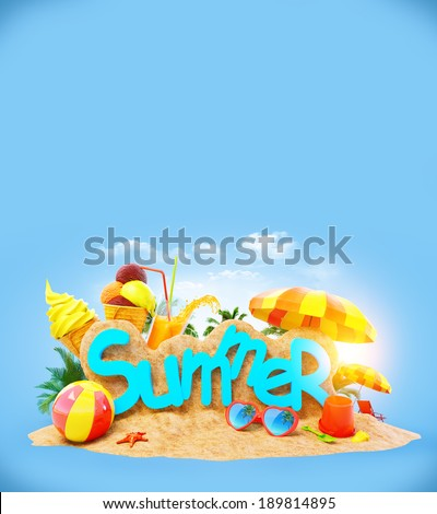 Bright, unusual and colorful summer background