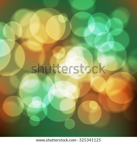 Bright vector background with bokeh effect. Wallpaper.