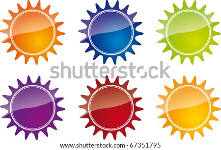 bright vector stickers for sale - stock photo