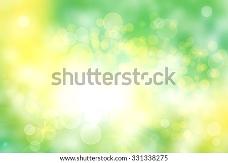 Bright vivid abstract bokeh background
