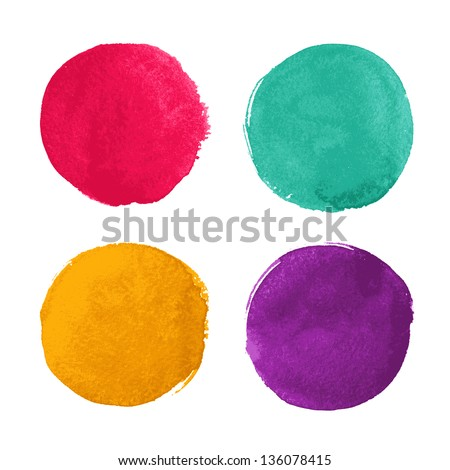 Bright watercolor circles