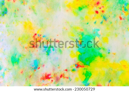 Bright watercolor stains - stock photo