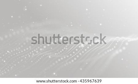 Bright white abstract fantasy technology motion background. 3D rendering - stock photo