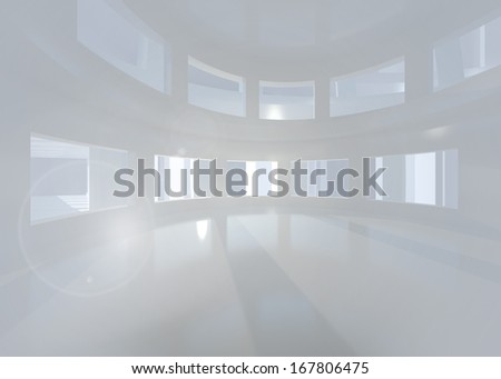 Bright white room with windows