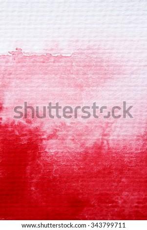 Bright Xmas Red Watercolor 6 - stock photo