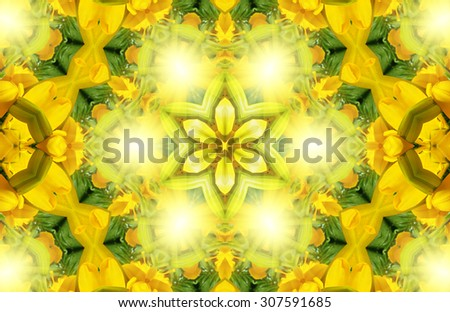 Bright yellow abstract pattern background - stock photo