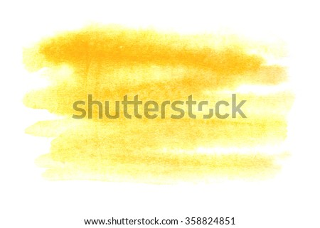 Bright yellow background painted in watercolor
