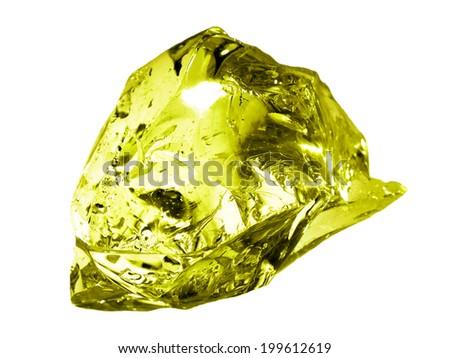 Bright yellow glass stone - stock photo