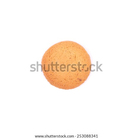 bright yellow useful oatcake closeup - stock photo