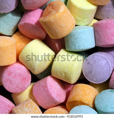 Brightly colored candy - stock photo