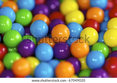 Brightly colored candy balls