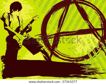 Brightly colored Punk Rock background (JPG); a vector version is also available - stock photo