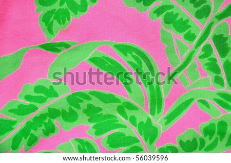 Brightly colored tropical pattern useful as a background. - stock photo