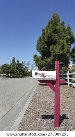 Brightly sunny day in Southern California city of Camarillo - stock photo