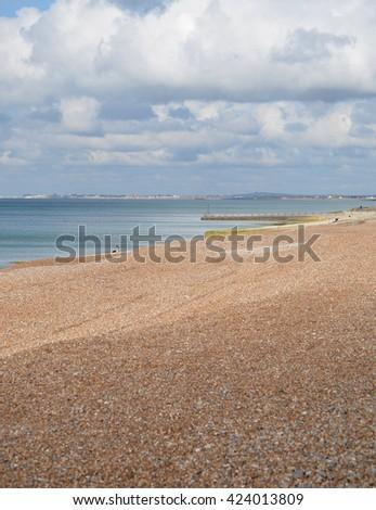 Brighton and Hove Beach, England - stock photo