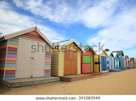 Brighton Beach bathing huts