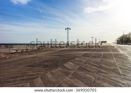Brighton Beach - neighborhood in the southern portion of the New York City borough of Brooklyn - stock photo