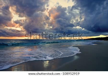 Brighton Beach sunset -  Perth Western Australia - stock photo