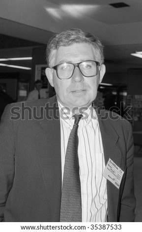 BRIGHTON, ENGLAND-OCTOBER 5: Martin O' Neill, Labour party spokesman for Defence and Member of Parliament for Clackmannan, visits the party conference on October 5, 1989 in Brighton, Sussex.