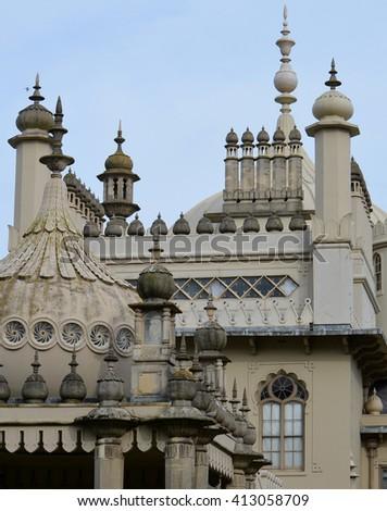 Brighton Pavilion Building Details - stock photo