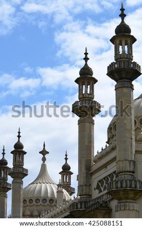 Brighton Pavillion Roof Architecture - stock photo