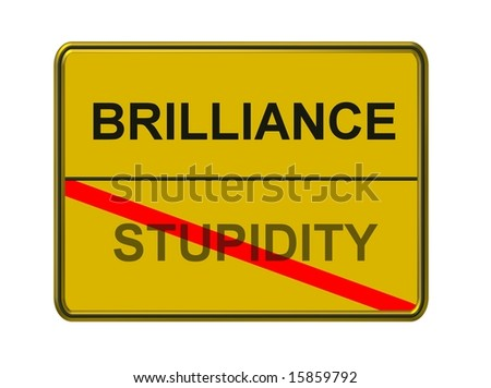 brilliance - stupidity - stock photo