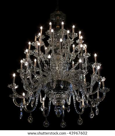 Brilliant baroque chandelier on black stock photo 43967602 brilliant baroque chandelier on black aloadofball Images