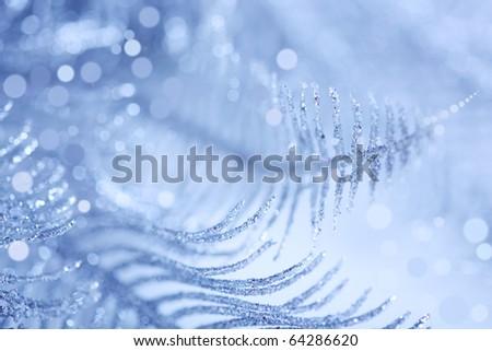 brilliant blue Christmas background - stock photo