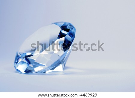 brilliant blue shiny diamond