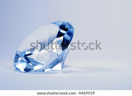 brilliant blue shiny diamond - stock photo