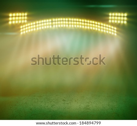 Brilliant blue stage lighting - stock photo