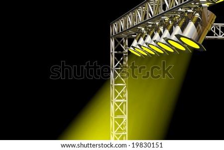Brilliant concert stage lighting - stock photo