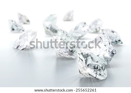 brilliant diamond jewel (high resolution 3D image) - stock photo
