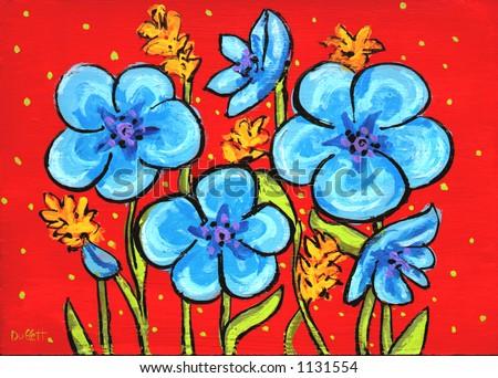 Brilliant Flowers - stock photo
