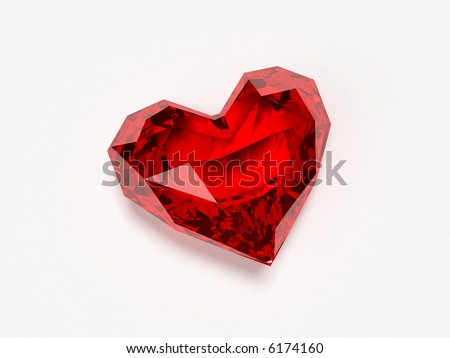 brilliant heart - stock photo