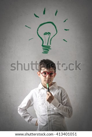 Brilliant ideas - stock photo