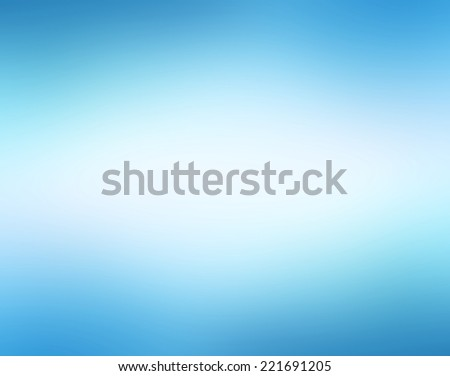 brilliant white blurred center on sky blue background color, gradient radial blur design - stock photo