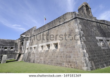 Brimstone Hill Fortress in St. Kitts - stock photo