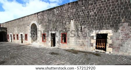 Brimstone Hill Fortress - St Kitts - stock photo