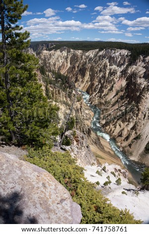Brink of the Lower Falls in the Grand Canyon of the Yellowstone River, Wyoming