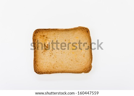 Brioche toast - closeup isolated on white - stock photo