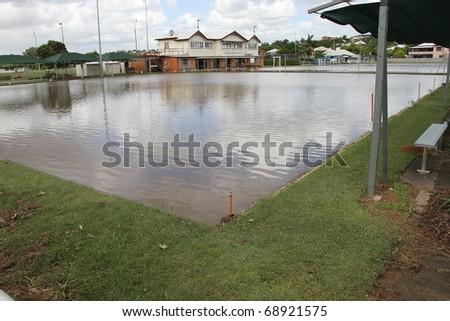 BRISBANE, AUSTRALIA - JAN 13 : Flood  Brisbane  windsor area January 13, 2011 in Brisbane, Australia - stock photo