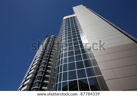 BRISBANE, AUSTRALIA - MARCH 20: IBM Centre building on March 20, 2008 in Brisbane, Australia. The building is 59m tall. - stock photo