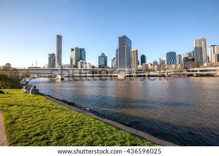 BRISBANE, AUSTRALIA - MAY 05: It's the capital and most populous city in the Australia and The central business district stands on the situated inside a bend of the Brisbane River on May 05, 2016