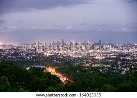Brisbane, Australia - skyline of a contemporary skyscraper city
