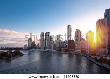 Brisbane city - stock photo